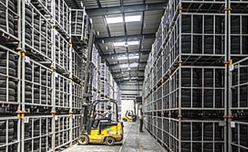 forklift in warehouse rfid